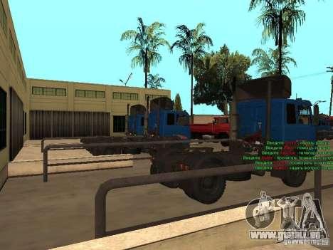 MAZ 5432 YAMZ-238 b 4 x 2 pour GTA San Andreas sur la vue arrière gauche