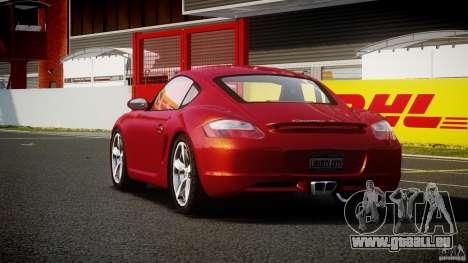 Porsche Cayman S v2 pour GTA 4 Vue arrière de la gauche