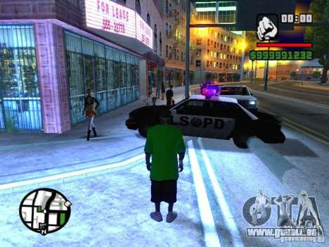 50 cent Skin pour GTA San Andreas deuxième écran