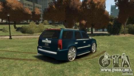Cadillac Escalade Dub pour GTA 4 est une gauche