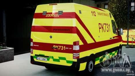 Mercedes-Benz Sprinter PK731 Ambulance [ELS] pour GTA 4 est un côté
