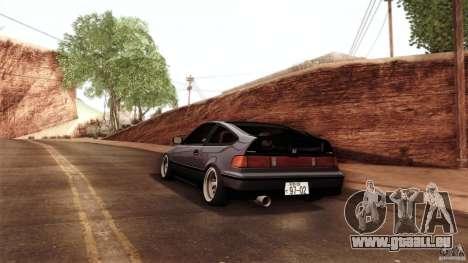 Honda CRX JDM pour GTA San Andreas vue arrière