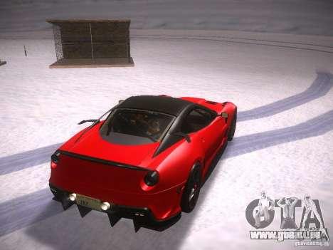 Ferrari 599XX pour GTA San Andreas sur la vue arrière gauche