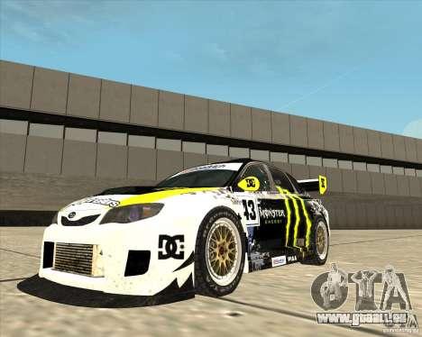 Subaru Impreza pour GTA San Andreas vue de droite