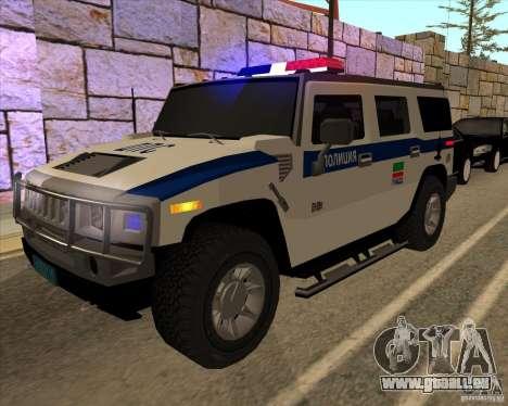 Hummer H2 DPS pour GTA San Andreas vue de côté