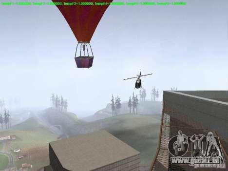 Ballon-Stil hippie für GTA San Andreas Rückansicht