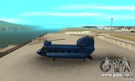 CH-47 Chinook ver 1.2 pour GTA San Andreas laissé vue