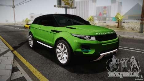 Land Rover Range Rover Evoque v1.0 2012 pour GTA San Andreas
