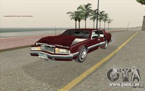 Chrysler Dynasty für GTA San Andreas Innenansicht