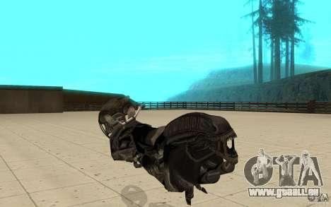 Bike predator pour GTA San Andreas sur la vue arrière gauche