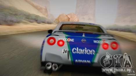 Nissan GTR R35 Tunable v2 pour GTA San Andreas vue arrière