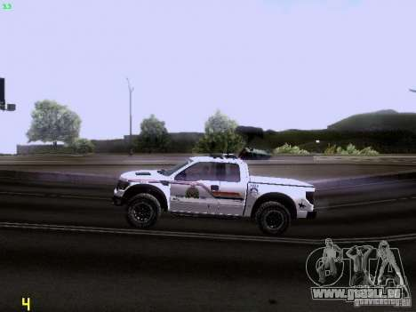 Ford Raptor Royal Canadian Mountain Police für GTA San Andreas Innenansicht