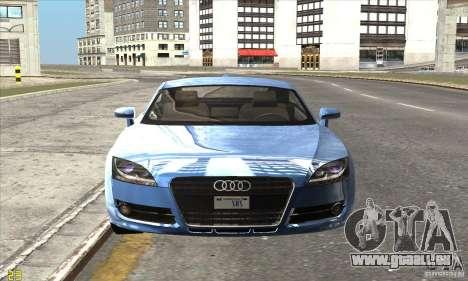 Audi TT 2006 pour GTA San Andreas sur la vue arrière gauche