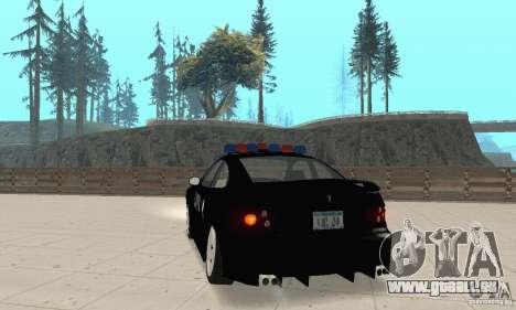 Pontiac GTO 2004 Cop pour GTA San Andreas laissé vue