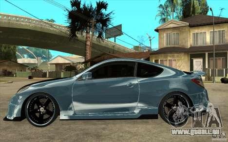 Hyundai Genesis Tuning pour GTA San Andreas laissé vue