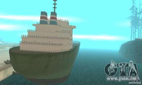 The G60 Ferry boat pour GTA San Andreas laissé vue