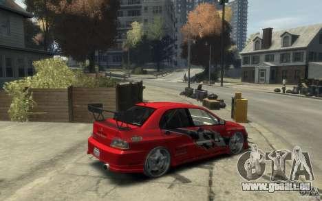 Mitsubishi Lancer pour GTA 4 est un droit