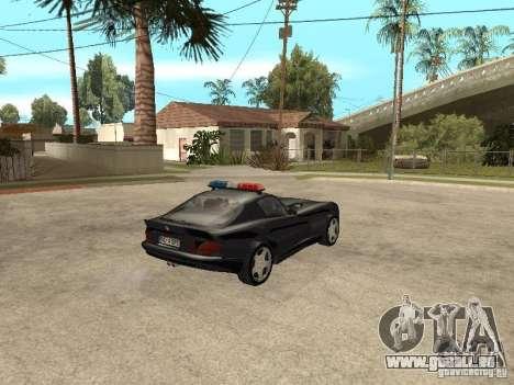 Dodge Viper Police pour GTA San Andreas sur la vue arrière gauche