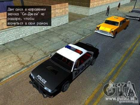 San-Fierro Sultan Copcar für GTA San Andreas rechten Ansicht