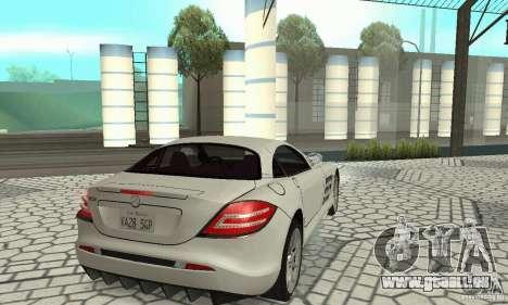 Mercedes-Benz McLaren V2.3 pour GTA San Andreas sur la vue arrière gauche