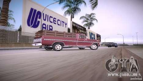 Ford F-100 1981 pour une vue GTA Vice City de la gauche