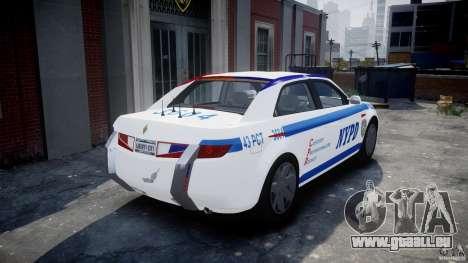Carbon Motors E7 Concept Interceptor NYPD [ELS] pour GTA 4 Vue arrière de la gauche