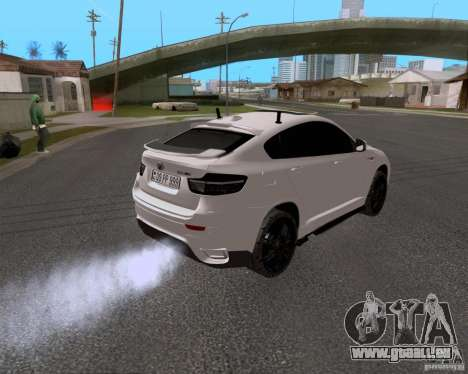 BMW X6 pour GTA San Andreas vue de droite