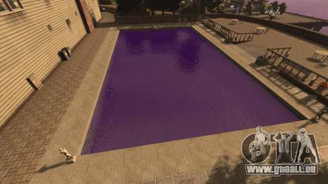 Die lila Farbe des Wassers für GTA 4 Sekunden Bildschirm