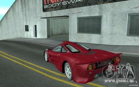 Mclaren F1 GT (v1.0.0) pour GTA San Andreas sur la vue arrière gauche
