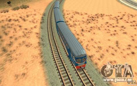 Train ER2-K-1321 pour GTA San Andreas vue intérieure