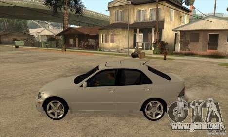 Lexus IS300 pour GTA San Andreas laissé vue