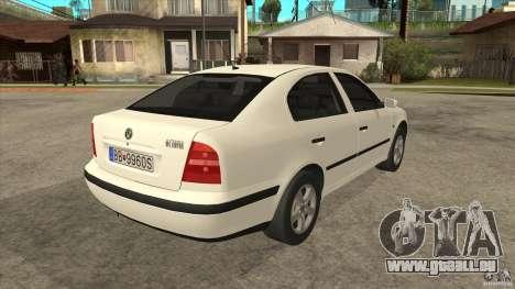 Skoda Octavia 1997 pour GTA San Andreas vue de droite