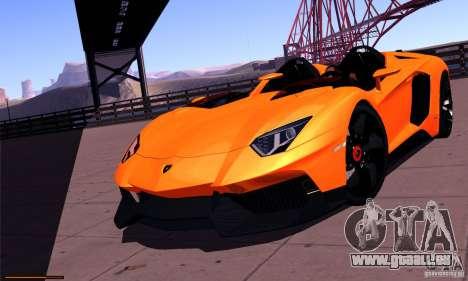 Lamborghini Aventador J für GTA San Andreas Rückansicht