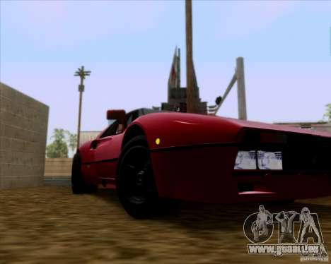 Ferrari 288 GTO pour GTA San Andreas vue intérieure