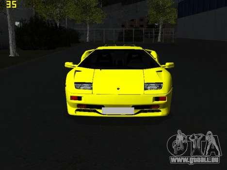 Lamborghini Diablo SV pour GTA San Andreas vue de droite
