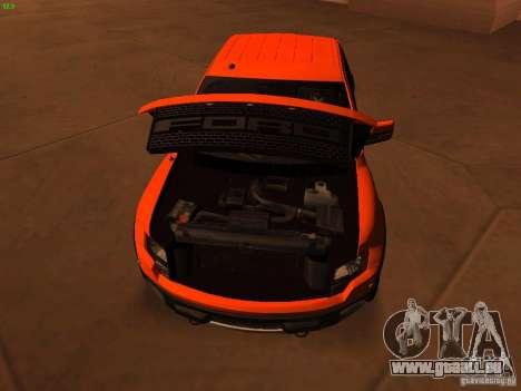Ford F-150 SVT Raptor 2009 Final für GTA San Andreas Innenansicht