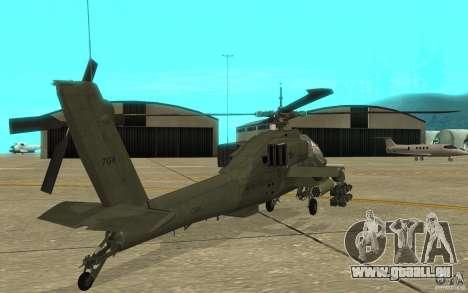 AH-64 Apache pour GTA San Andreas vue de droite