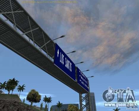Route signes v1.1 pour GTA San Andreas deuxième écran