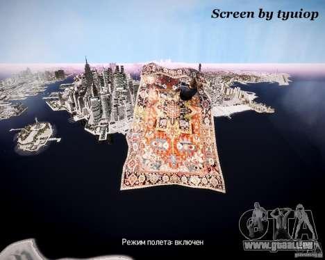 Tapis avions pour GTA 4 est une vue de l'intérieur
