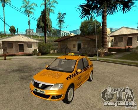 Dacia Logan Taxi Bucegi für GTA San Andreas