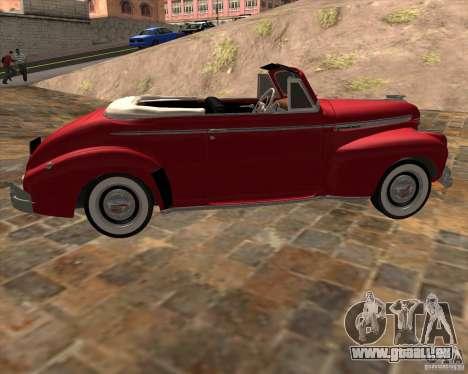 Chevrolet Special DeLuxe 1941 pour GTA San Andreas laissé vue