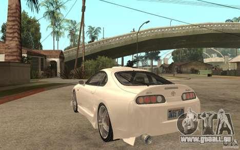 Toyota Supra Tunable pour GTA San Andreas sur la vue arrière gauche