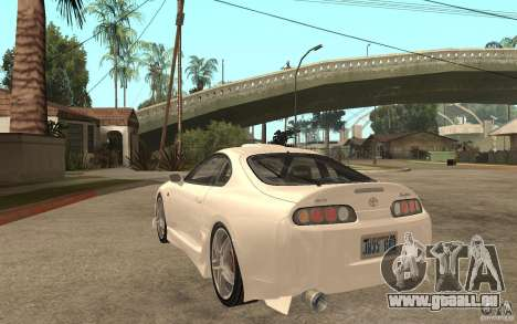 Toyota Supra Tunable für GTA San Andreas zurück linke Ansicht
