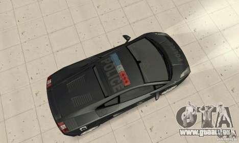 Lamborghini Gallardo Police pour GTA San Andreas sur la vue arrière gauche
