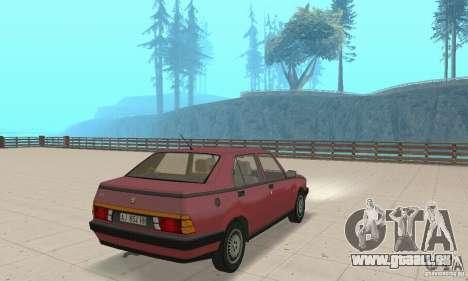 Alfa Romeo 75 pour GTA San Andreas laissé vue