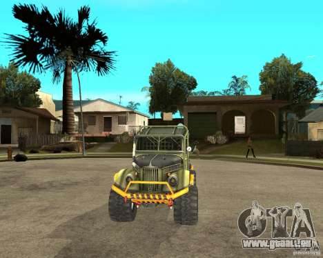 GAZ 69 Testversion für GTA San Andreas Rückansicht