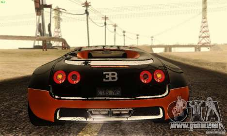 Bugatti Veyron SuperSport für GTA San Andreas Seitenansicht