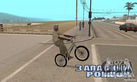 Vélos BMX de la CS pour GTA San Andreas vue de droite