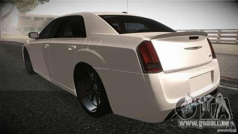 Chrysler 300 SRT8 2012 pour GTA San Andreas sur la vue arrière gauche