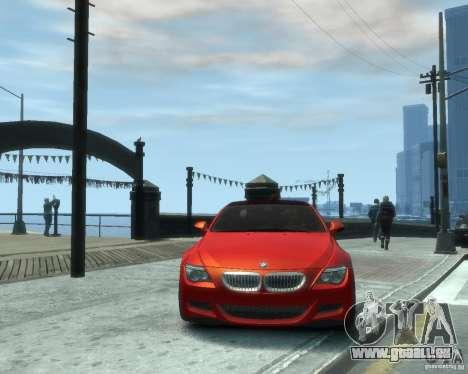 BMW M6 2010 v1.1 für GTA 4 Rückansicht